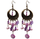 Fashion Style Pink Rhinestone Ball Studs Earrings