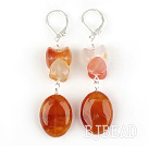 Classic Design Natural Color Agate Dangle Earrings