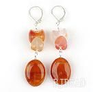 Classic Design Natural Color Agate Dangle Earrings
