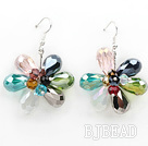 Assorted Multi Crystal Flower Shape Earrings