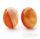 Classic Design Oval Shape Orange Color Agate Studs Earrings