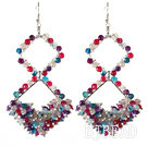 New Design Rhombus Shape Assorted Multi Color Agate Earrings