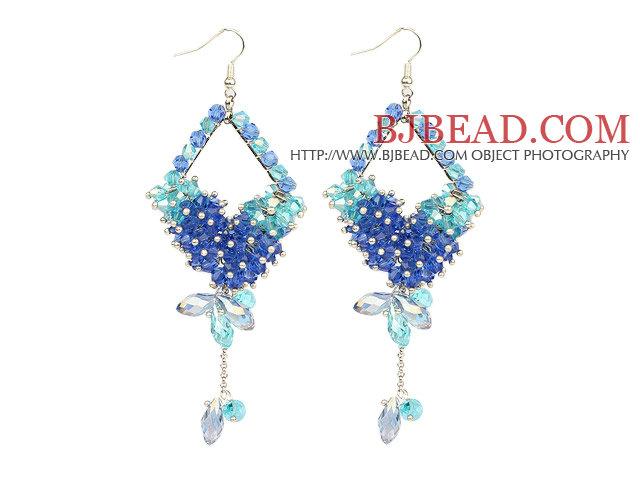 Cool Blue Series Assorted Blue Crystal Dangle Earrings