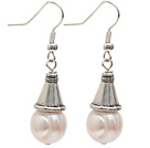 Classic Design 10-11mm Natural White Freshwater Pearl Earrings with Fish Hook under $ 40