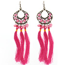 New Design Pink Style 6-7mm Pink Pearl Tassel Dangle Earrings