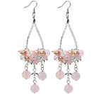 Pink Series Clear Crystal and Pink Crystal and Rose Quartz Earrings under $ 40