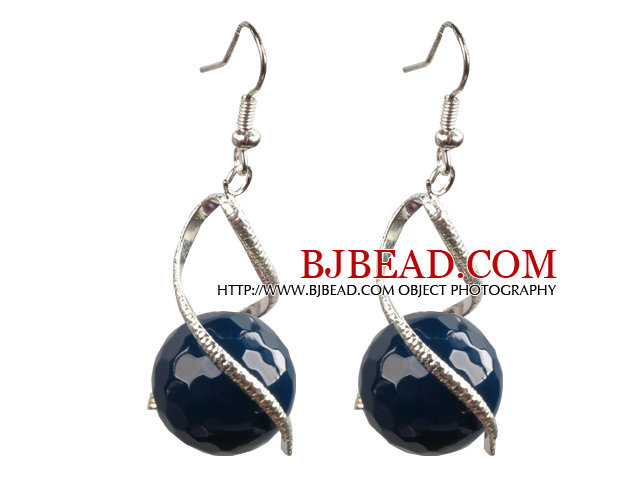 Nice Drop Shape Purple Seashell Beads Horn Charm Earrings With Fish Hook