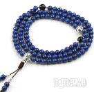 Natural Lapis Prayer/ Rosary Bracelet with Sterling Silver Accessory ( can also be necklace )