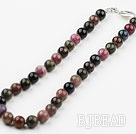 12mm Round Tourmaline Beaded Necklace