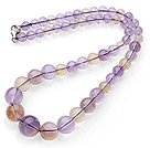 Natural Double Color Ametrine Beaded Necklace