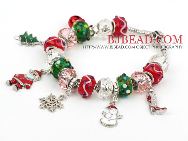 Fashion Style Wielu Colored Glaze Xmas / Christmas bransoletka