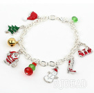 Fashion Style Silver Plated Chain Xmas/ Christmas Charm Bracelet under $ 40