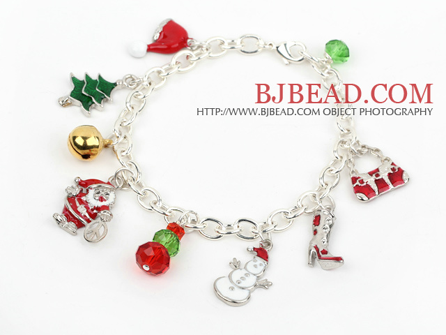Fashion Style Silver Plated Chain Xmas/ Christmas Charm Bracelet