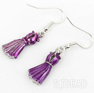 Fashion Style Purple Formal Dress Shape Charm Earrings under $ 40