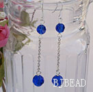 dangling dyed blue earrings