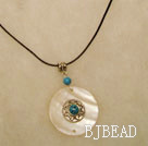 Turquoise shell necklace