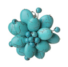 Elegant Style Kolor Zielony Assorted Multi Color Turquoise Flower Brooch