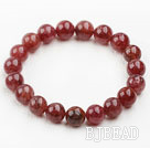 10mm Round Strawberry Quartz Elastic Bangle Bracelet