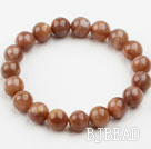 10mm Round A Grade Sun Stones Beaded Elastic Bangle Bracelet