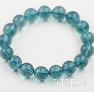 10mm A Grade Blue Fluorite Beaded Elastic Bangle Bracelet
