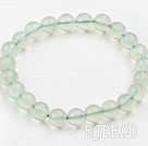 10mm A Grade Prehnite Beaded Elastic Bangle Bracelet