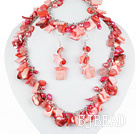 Hot Pink Series Hot Pink Pearl Shell and Cherry Quartz Set ( Necklace Bracelet and Matched Earrings ) under $ 40