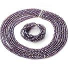 Bella Multi Strands artificiale di cristallo viola del braccialetto della collana set con chiusura magnetica