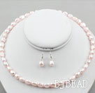 8-9mm Rosa Baby Baroque Pearl set (collana ...