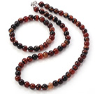 Fashion 8mm A Grade Visional Agate Jewelry Sets (Necklace With Matched Elastic Bracelet)