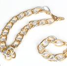 Pozłacane aluminium Chain Set (Bransoletka Naszyjnik i dopasowane)