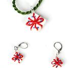 Christmas Gift sieraden set ketting met Oorbellen Matched