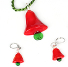 Christmas Tree Jewelry Set Necklace with Matched Earrings