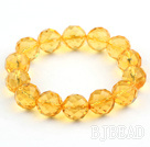 14mm fusión Faceted Citrine Beaded Stretch ...