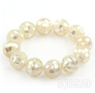 Big Style 16mm White Shell Mosaic Beaded St...