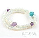 Opal Faceted Beaded Pulsera con bolas de pl...