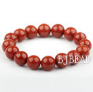 12mm Natural Red Jasper Elastisk Armbånd Ar...