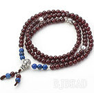 A Class Round Garnet and Lapis Rosary / Prayer Bracelet