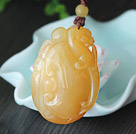 China Stijl A Grade Huanglong Jade Animal Shape Hanger