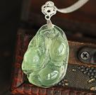 A Grade Prehnite Forma Pingente de ervilha com Sterling Silver Chain (Você pode escolher um dos dois projetos)