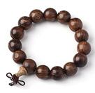 Fashion Lovers Golden Sandalwood Rosary Beads Bracelet