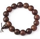 Beautiful 14mm Amulet Natural Real Silkwood Rosary Beads Bracelet