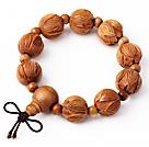 Fashion Amulet Naturlig Pecan rosenkrans perler armbånd (du kan vælge 1 fra 3 Armbånd )