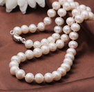 Gorgeous Fashion Grade A 8-9mm Natural White Freshwater Pearl Necklace(No Box)