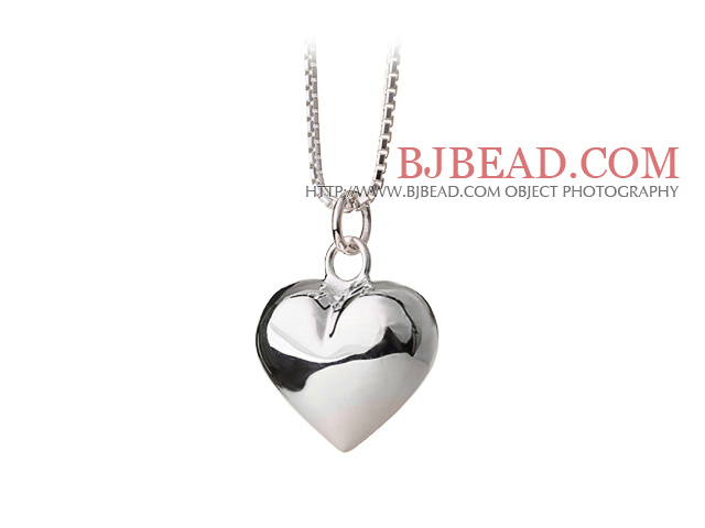 Fashion Style 925 Sterling Silver Heart Shape Pendant Necklace