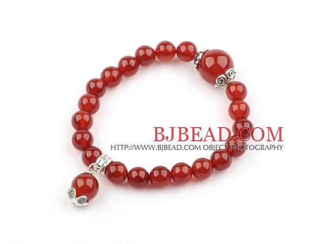 Classic Design Carnelian Elastic Bangle Bracelet