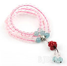 Natural A Grade Higher Quality Rose Quartz Prayer Bracelet with Sterling Silver Accessories ( Total 108 Beads)