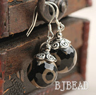 14mm Round Tianzhu Agate Earrings with 925 Sterling Silver Hooks