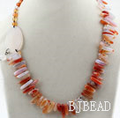 Assorted Natural Color Round Aagate and Branch Shape Agate Necklace under $ 40