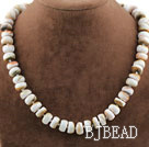 Single Strand Drum Shape Sun Shellfish Necklace under $ 40
