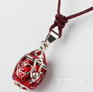 Fashion and Simple Style Red Wishbox Pendant Necklace with Brown Thread under $ 40